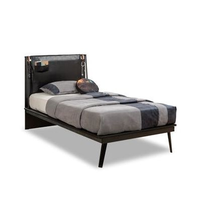 Pat Dark Metal Line Bed, 120 x 200 cm
